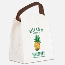 Keep Calm Pineapple Canvas Lunch Bag