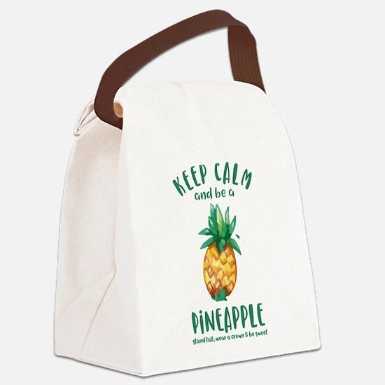 Keep Calm Pineapple Canvas Lunch Bag