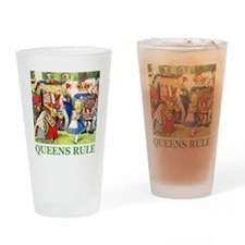 Queens Rule Drinking Glass