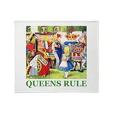 Queens Rule Throw Blanket
