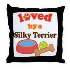 Silky Terrier Dog Gift Throw Pillow
