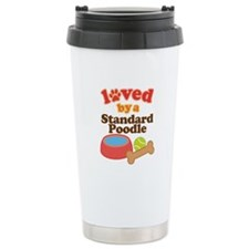 Standard Poodle Dog Gift Travel Mug