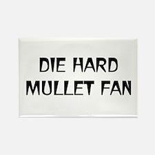 Die-Hard Mullet Fan Rectangle Magnet