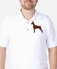 Red Doberman Silhouette T-Shirt