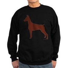 Red Doberman Silhouette Sweatshirt