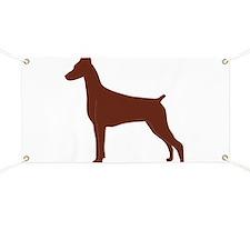 Red Doberman Silhouette Banner