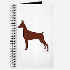 Red Doberman Silhouette Journal