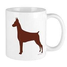 Red Doberman Silhouette Mug