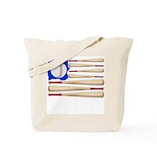Patriotic Baseball Tote Bag