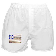 Patriotic Baseball Boxer Shorts
