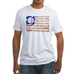 Patriotic Baseball Fitted T-Shirt
