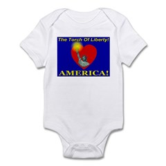 The Torch Of Liberty Infant Creeper