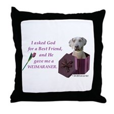 Cute Weimaraner tote Throw Pillow
