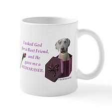 I Asked God -Shirt -Weimaraner Mugs