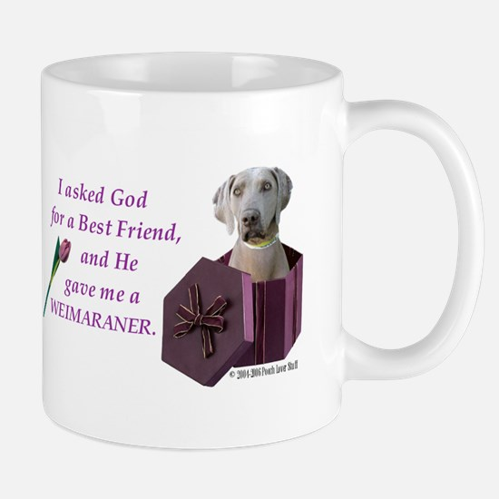 I Asked God -Shirt -Weimaraner Mugs