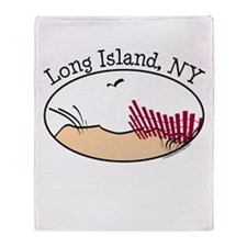 Long Island NY Throw Blanket