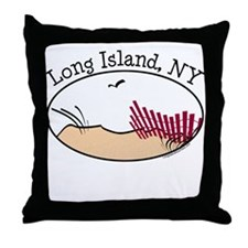 Long Island NY Throw Pillow