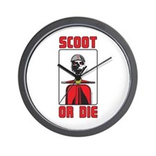 Scoot Or Die Wall Clock