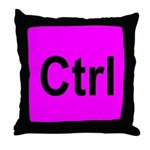 Ctrl Throw Pillow Pink