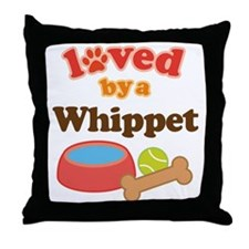 Whippet Dog Gift Throw Pillow