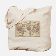 Vintage Map of The World (1864) Tote Bag