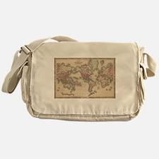 Vintage Map of The World (1864) Messenger Bag