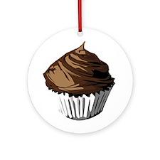 Chocolate cupcake Ornament (Round)