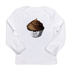 Chocolate cupcake Long Sleeve Infant T-Shirt