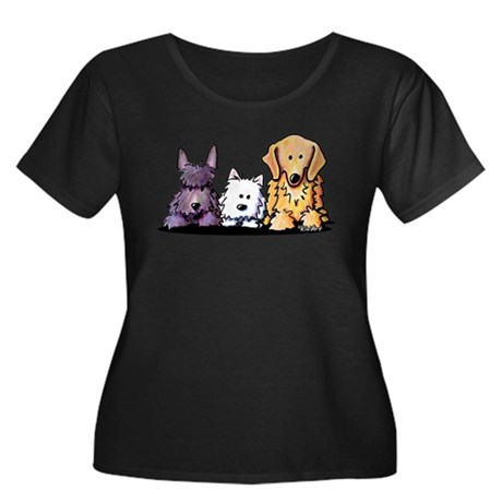 Three Dog Night Women's Plus Size Scoop Neck Dark