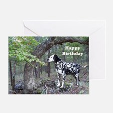 Dalmation landscape Greeting Card