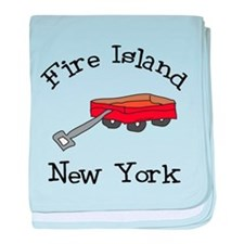 Fire Island baby blanket