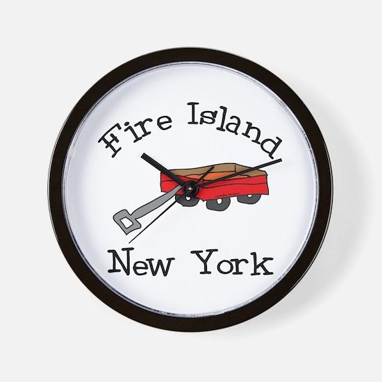 Fire Island Wall Clock