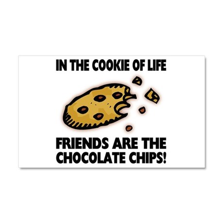 Chocolate Chip Friends Car Magnet 20 x 12