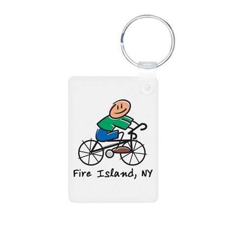 Fire Island Aluminum Photo Keychain