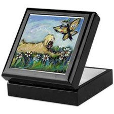 Wheaten Terrier butterfly Keepsake Box
