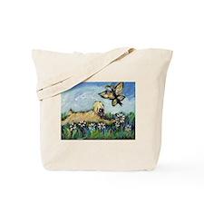 Wheaten Terrier butterfly Tote Bag