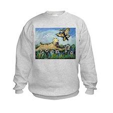 Wheaten Terrier butterfly Sweatshirt