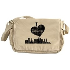 Vintage I heart California.png Messenger Bag