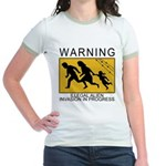 Illegal Invasion Warning Jr. Ringer T-Shirt