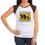 Illegal Invasion Warning Women's Cap Sleeve T-Shir