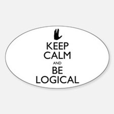 Keep Calm and Be Logical Decal