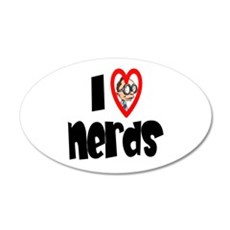 I Love Nerds 22x14 Oval Wall Peel