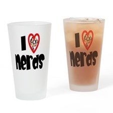 I Love Nerds Drinking Glass
