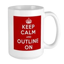 Keep Calm And Outline On Mug