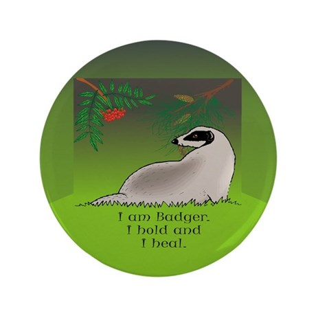 "Badger 3.5"" Button"