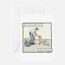 Buy Me A Robot Dog - Homework Greeting Card