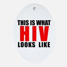HIV.png Ornament (Oval)