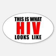 HIV.png Sticker (Oval)