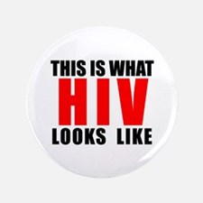 """HIV.png 3.5"""" Button"""