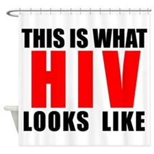 HIV.png Shower Curtain